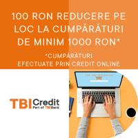 100 Lei reducere pentru cumparaturi de minim 1000 Lei