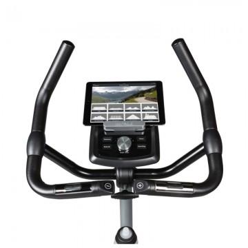 Poza Bicicleta exercitii FLOW FITNESS DHT2000I, Greutate utilizator 135 Kg, 24 programe antrenament, Bluetooth, Suport tableta/smartphone, Roti transport, Scaun reglabil