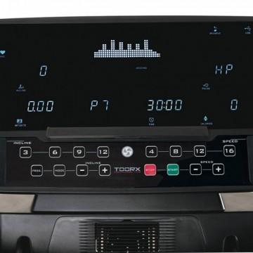 Poza Banda de alergare Toorx TRX-8500, Motor 7 CP, Greutate maxima utilizator 160 Kg, Inclinatie 15%, Viteza 22 km/h, MP3, Difuzoare, Port USB, Negru