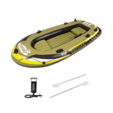 Poza Barca gonflabila 350 Jilong Fishman, Pompa inclusa, Vasle incluse