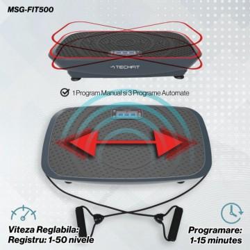 Poza Placa vibromasaj MSG-FIT500 TECHFIT, VIBRO SHAPER Greutate utilizator: 120 kg, Computer pentru antrenament, Telecomanda