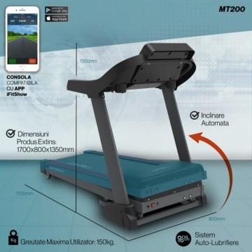Banda de alergare TECHFIT MT200, Putere Maxima 5CP, Greutate utilizator: 150KG, Suprafata de alergare 130 x 48cm. Poza 14