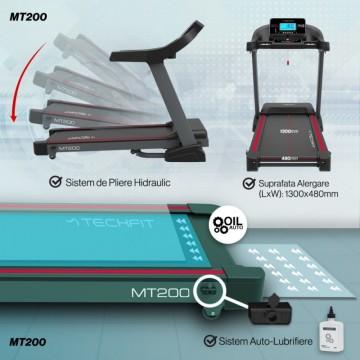 Banda de alergare TECHFIT MT200, Putere Maxima 5CP, Greutate utilizator: 150KG, Suprafata de alergare 130 x 48cm. Poza 13
