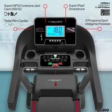 Banda de alergare TECHFIT MT200, Putere Maxima 5CP, Greutate utilizator: 150KG, Suprafata de alergare 130 x 48cm. Poza 11