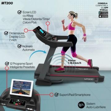 Banda de alergare TECHFIT MT200, Putere Maxima 5CP, Greutate utilizator: 150KG, Suprafata de alergare 130 x 48cm. Poza 10